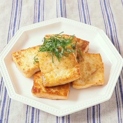 こくたっぷり バター醤油で豆腐ステーキ