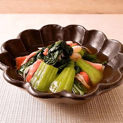 チンゲン菜とカニカマの中華煮