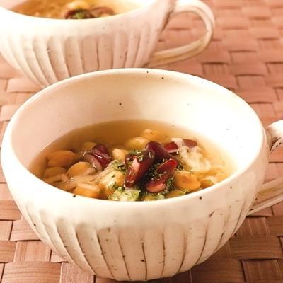 お豆たっぷり 切り干し大根とお豆のスープ