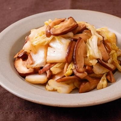 白菜と椎茸のコク旨バター醤油炒め
