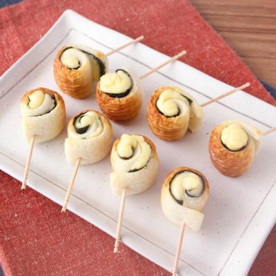 お弁当に ちくわの海苔チーズ巻き