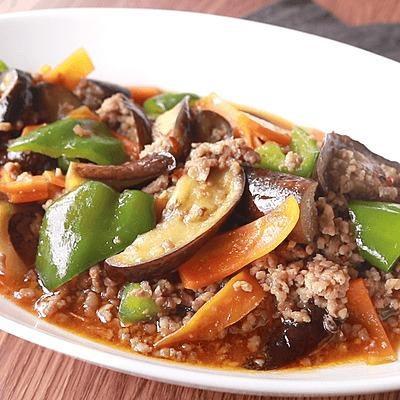 彩り野菜のピリ辛肉みそ炒め