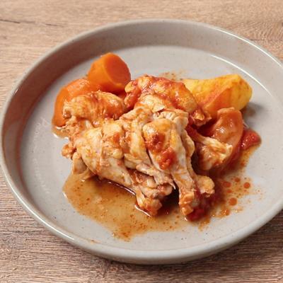 炊飯器で作る 手羽元のトマト煮込み