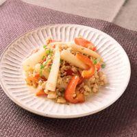 大根と鶏ひき肉の中華風炒め