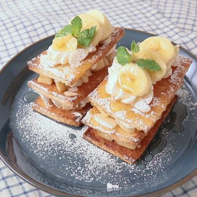 食パンで簡単バナナミルフィーユ