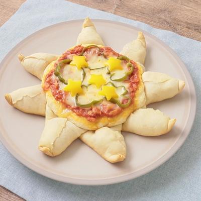 ホットケーキミックスで簡単 星型ピザ