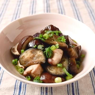 簡単おいしい なすと椎茸の煮浸し