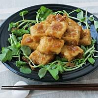 まるでお肉 冷凍豆腐でサイコロステーキ