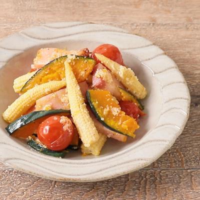 ヤングコーンの焼き野菜サラダ