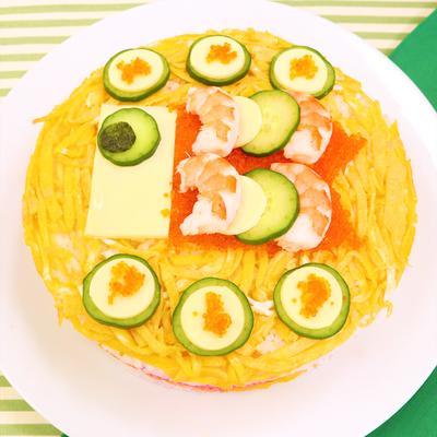 不器用さんでも簡単に作れる!こいのぼりちらし寿司ケーキ