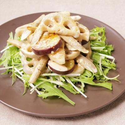 焼き根菜の胡麻マヨサラダ