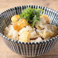 油揚げと塩昆布の混ぜご飯