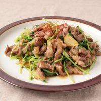 にんにく香る 牛肉と豆苗の中華炒め