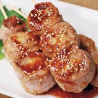 梅チーズの豚肉串