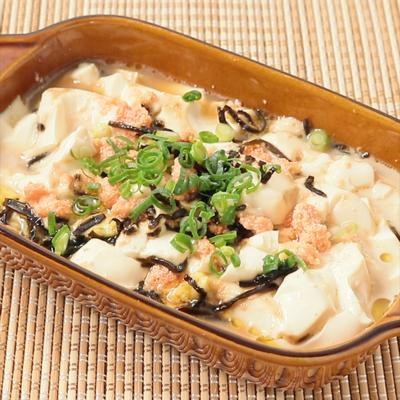 レンジにおまかせ 明太くずし豆腐