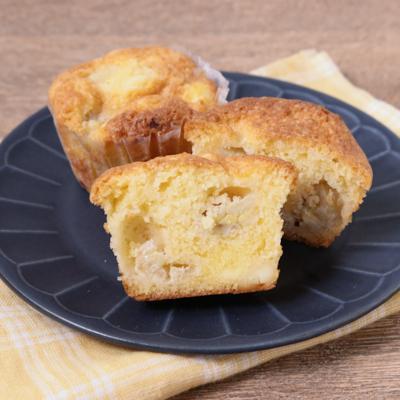 バナナとクリームチーズのカップケーキ