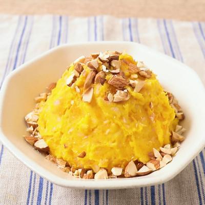 さつまいもとカボチャのオレンジマヨネーズサラダ
