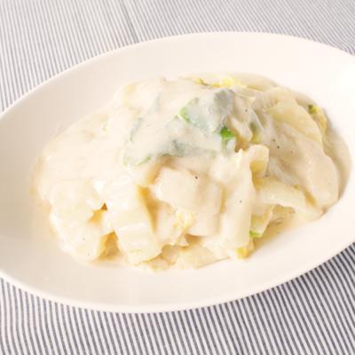 白菜とじゃがいもの豆乳クリーム煮
