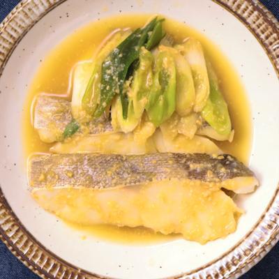 鱈とたっぷり長ねぎの味噌煮