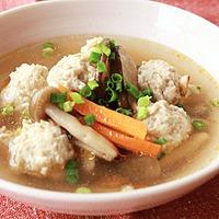鶏団子の生姜スープ