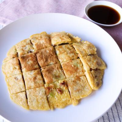 納豆と長ねぎの和風チヂミ