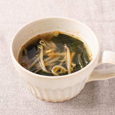 もやしのピリ辛スープ
