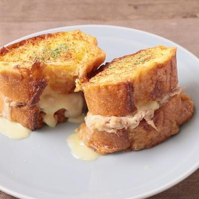 ツナチーズのフレンチトースト