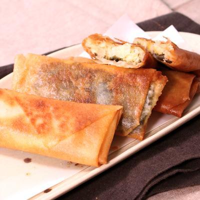明太子とモッツァレラチーズの春巻き