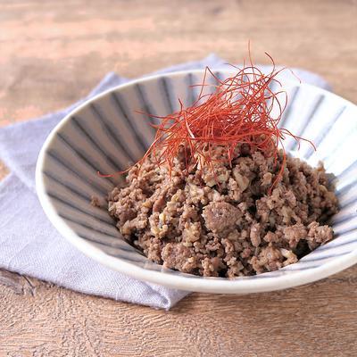 常備菜に いろいろきのこと牛肉のピリ辛そぼろ
