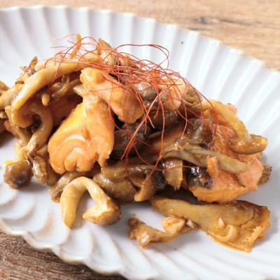 塩鮭ときのこのピリ辛マヨ炒め