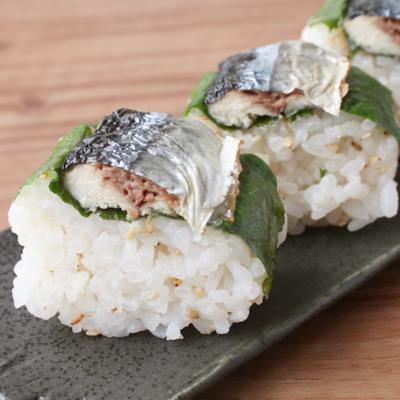焼き秋刀魚の押し寿司