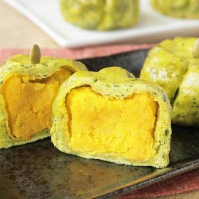 フライパンで作る 可愛い丸ごとかぼちゃ饅頭