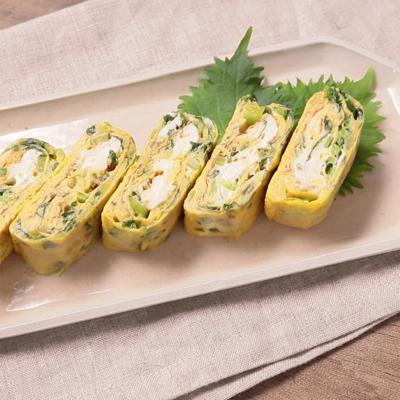 しゃきしゃき食感 野沢菜厚焼き卵