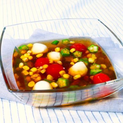 暑い日に!冷たい夏野菜のおでんジュレ
