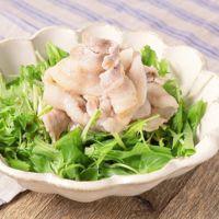 水菜と三つ葉の豚しゃぶサラダ