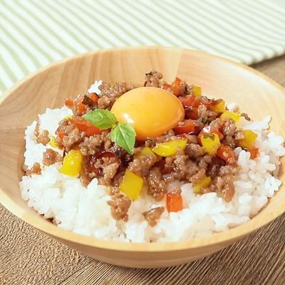 ガパオ風卵かけご飯