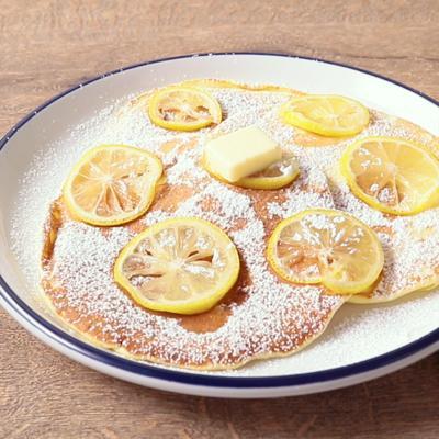 爽やかレモンのホットケーキ