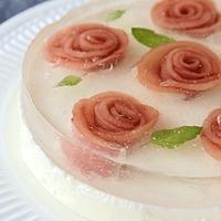 ピーチフラワーのヨーグルトムースケーキ