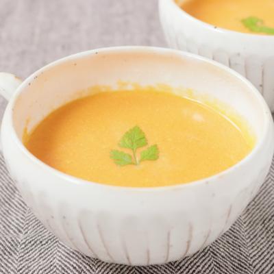 金時人参とりんごの冷製スープ