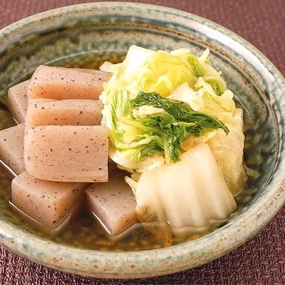 白菜とこんにゃくの簡単めんつゆ煮