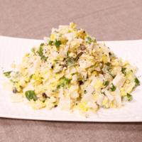 簡単で懐かしい味!白菜と卵のサラダ