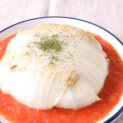 華やか 豚肉と白菜のレンジ蒸し
