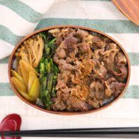 レンジで簡単 すきやき丼弁当