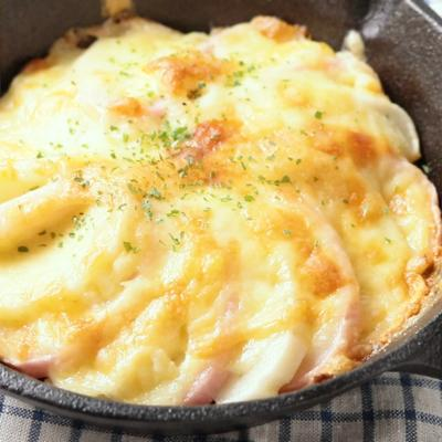 スキレットで かまぼこチーズ焼き