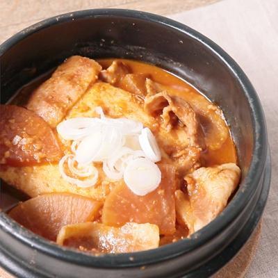 豚バラ入り 豆腐の辛味噌煮込み
