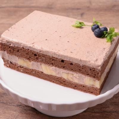 四角いチョコバナナケーキ