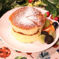 素敵な朝ごはんに!厚焼きパンケーキ
