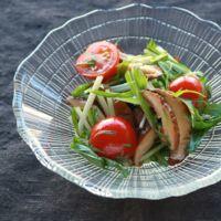 シャキシャキ水菜の和風サラダ