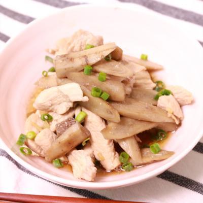 ごぼうと鶏むね肉の甘辛煮