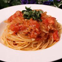 フレッシュトマトとツナの和風スパゲティ